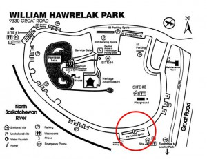 Hawrelak Park Map
